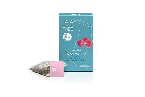 [Palais des Thés Flavored Green Hammam Tea XL Iced Tea Bags, 1.7oz (48g)] (Iced Tea Accessories)