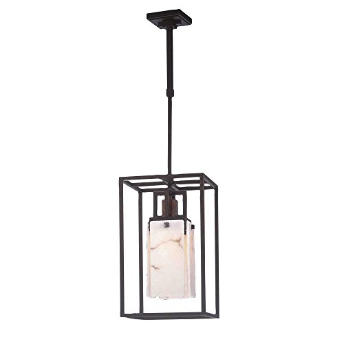 1 Light Bedford Pendant - Kalco 2506-1TG/ALAB Bedford 1-Light Pendant with Copper Accents, Tuscan Gold Finish