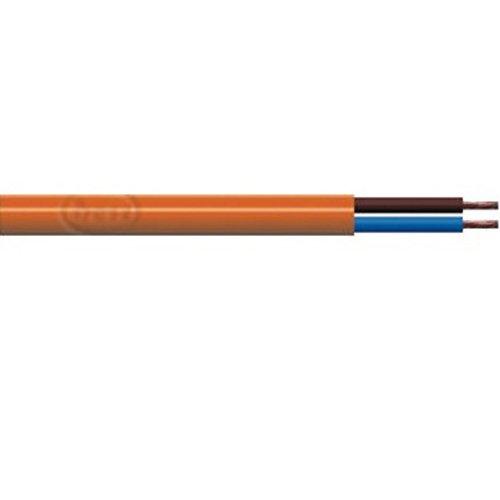 Bulk Hardware BH01465 Cavo Flessibile a Sezione Rotonda a Due Conduttori 3182Y, 10 m x 1 mm, Arancione Bulk Hardware Limited