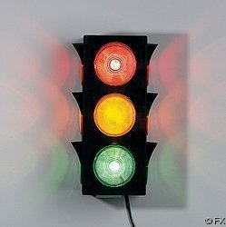Large Blinking Traffic Light - great for dorm rooms, game rooms and home decor