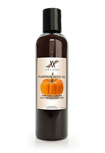 Pumpkin Seed Oil – 4 oz | 100% Pure and Natural Carrier Oil | Unrefined, Cold Pressed | Cooking, Face, Hair, Body & Skin…