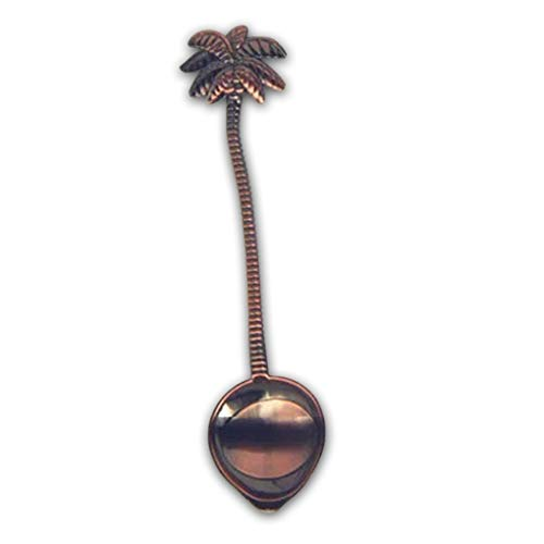 (Souvenir Spoon - Vintage Royal Style Coconut Tree Tea Coffee Spoon Ice Cream Small Decoration Zine Alloy Gift - Doll Steel Back Drink Wide Stainless Kite Scoop Flamingo Cream Royal)