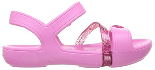 crocs Girls' Lina K Sandal, Party Pink/Candy Pink, 11 M US Little Kid Photo #2