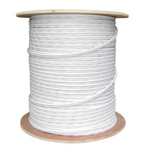Five Star Cable RG59 1000 ft. Bare Copper Siamese Coaxial CCTV Combo Cable, 20 AWG Solid Copper RG59 Video + 18/2 18AWG Power CCTV Cable UL Litsted - White color by Five Star Cable (Image #1)
