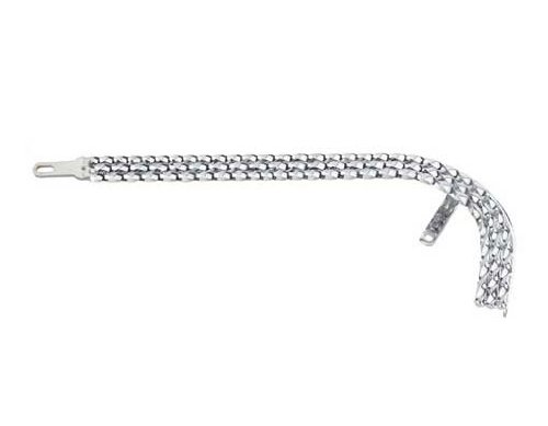 Triple Square Twisted Chain Guard Chrome. bicycle part, bike part, for 20'' lowrider chain guard