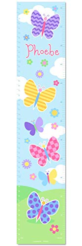 Butterfly Garden Personalized Wall Decal Growth Chart By Olive Kids