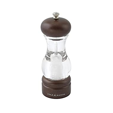Cole & Mason 105 Forest Precision Wooden Salt Grinder, Sea Salt Included