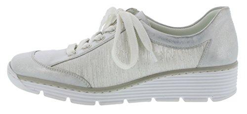 Blanc 587po silber Rieker Sneaker 80 Ice weiss wxaqgStq
