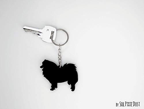(Samoyed Spitz Dog - Keychain Silhouette)