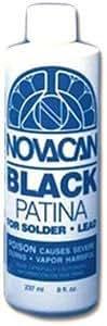 Black Patina For Lead And Solder - 16 oz Bottle