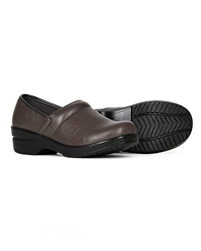 Refresh Women Leatherette Round Toe Slip On Clog BH36 - Brown (Size: 8.5) by Refresh (Image #3)'