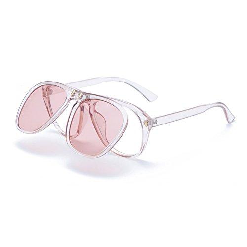 moda gafafs gafas gafas de tipo de sol adorno 2018 fiesta gafas novedad calle de regalo con moda de de de de gafas gafas big de Transparente de nuevo Ocean Red frame upturning Frame de Red cumpleaños diseño rx0wOr8qf