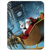 Santa Claus Flying Past Big Ben On Sleigh Premium Quality Thick Rubber Mouse Mat Pad Soft Comfort Feel - Mouse Sleigh