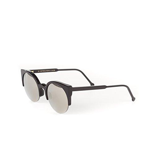 Retrosuperfuture Lucia Black/Ivory Fashion Sunglasses - Lucia Sunglasses