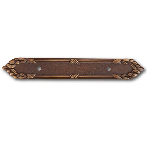 Rk International - Antique English Rki Ornate Edge Pull Backplate (Rkibp385Ae) - Edge Pull Backplate