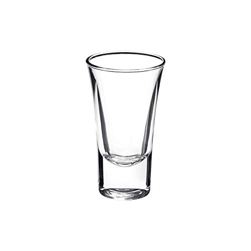 Bormioli Rocco Dublino Collection Shot Glasses - Set of 6 Clear Shot Tumblers With Heavy Base - 2-Ounce Shooter Glass For Spirits & Liquors - Classic European DesignDrinkware For Bar, Pub & Home Use