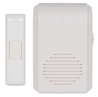 Safety Technology International, Inc. STI-3350 Wireless Doorbell Chime (or assistance call button or receptionist call button) with Receiver, Part of Musical Wireless Chime Series