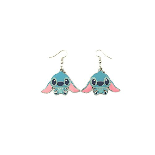 [Disney Cartoon Lilo & Stitch Dangle Earrings] (Storm X Men Costume Comic)