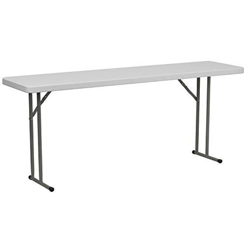 Flash Furniture 6-Foot Granite White Plastic Folding Training Table