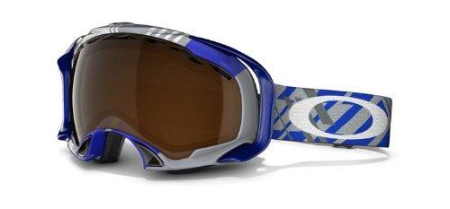 Oakley Splice Goggle Tech Plaid Blue W/Black Irid., One - Lenses Oakley Interchangeable Goggles