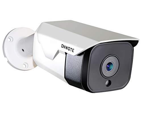 5MP HD IP PoE Camera Outdoor, ONWOTE 5 Megapixels 2592x 1944P Ethernet Security Camera, Onvif, 100ft Night Vision, IP65 Waterproof, Mobile View, Motion Alert, More Stable Than Wireless, Solid& Durable