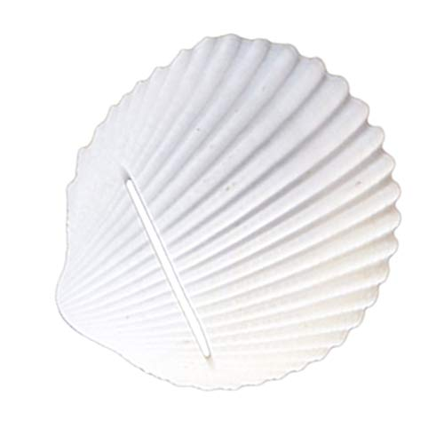 SM SunniMix White Shell Shaped Creative Place Card Holder Beach Style Theme Beautiful Shape, Good As Tabletop Decorations