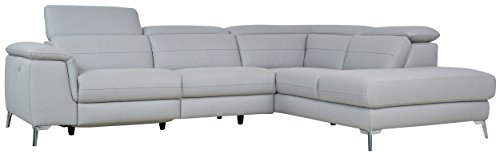 Homelegance Cinque Sectional Sofa with Left Side Power Recliner, 113