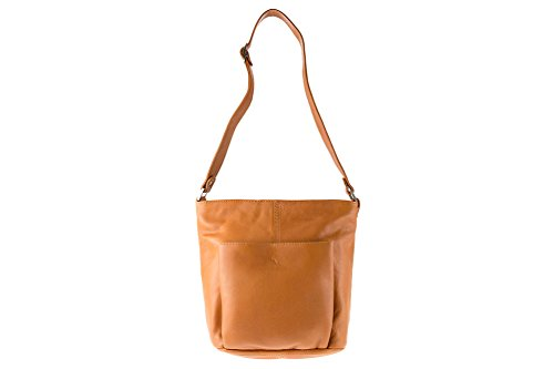 Askibags - Bolso cruzados de cuero para mujer marrón marrón talla única Naturbraun