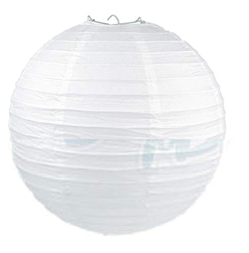 thaisan7, White 14'' Paper Lantern Chinese Decoration Wedding Festivals, Birthdays Even Festival Party x 10 Pack by thaisan7
