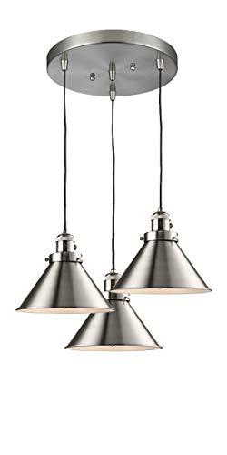 Briarcliff Pendant Lighting - Innovations Lighting 211/3-SN-M10 Three Light Pendant, Brushed Satin Nickel