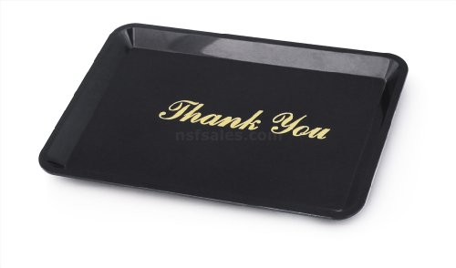 New Star 26917 Tip Tray Restaurant Guest Check Bill Holder, 4.5 by 6.5-Inch, Black with Gold Imprint, Set of 12|-|B009NUWZZG