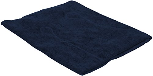Deluxe Terry Pillow – Spa-Quality Cloth – Secure Suction Cups Hot – Bath Navy Blue