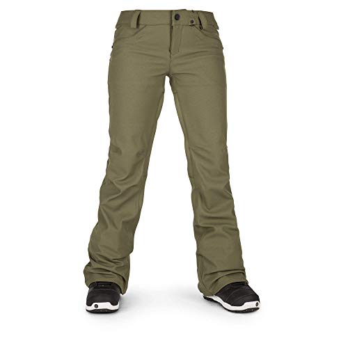 Volcom Women's Species Stretch Snowpant, Military, Medium