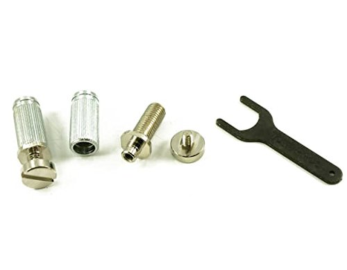 TONEPROS® VINTAGE STEEL LOCKING STUDS (TAILPIECE NOT INCLUDED) US THREAD NICKEL (Locking Bridge Studs)
