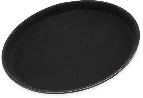 Carlisle 1100GR004 Griptite Serving Trays, Dozen 11-Inch, Fiberglass, Black