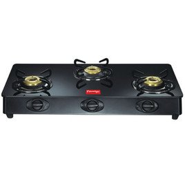 Prestige Royale Three Brass Burners GT 03 L.P Gas Table with Glass Top