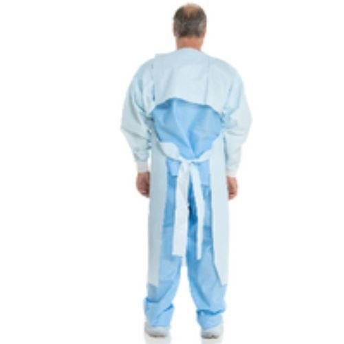 Halyard Health 37284 Procedure Gown for Use with Chemotherapy Drugs, Xx-Large, 33'' Chest Width x 49'' Length x 24'' Sleeve, Blue (10 Poly Bags of 10, 100 Total)
