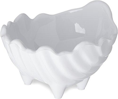 "Carlisle 033802 SAN Sea Shell Sauce Cup, 2-Ounce Capacity, 1.93"" Height, White (Case of 48)"