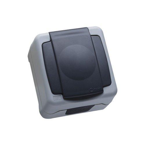 Enchufe Schucko 2p+TT Superficie Makel IP55 36064029