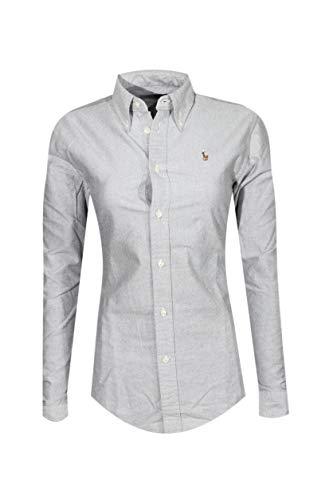 (Polo Ralph Lauren Women's Classic Fit Oxford Buttondown Shirt (Small, Grey))