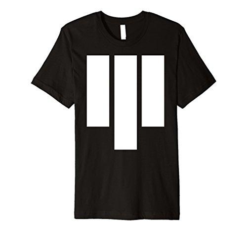 Mens Three Stripes - Future Futuristic Tech Wear Black T-shirt Medium (Tech Wear Graphic)