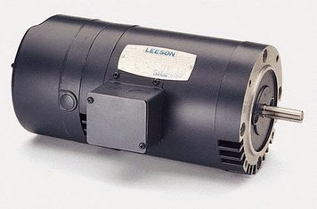 1 hp 1725 RPM 56C Frame ODP C-Face (No Base) Brake Motor 208-230/460V Leeson Motor # 114166 C-face Brake Motor