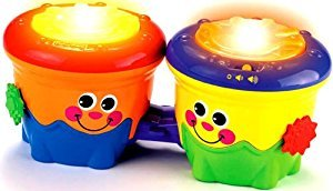 Smiley Face Bongo Drum Converts to Rolling Infant Drum
