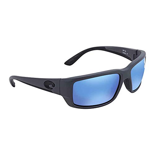 Costa Del Mar Fantail 580G Fantail, Matte Gray Blue Mirror, Blue ()