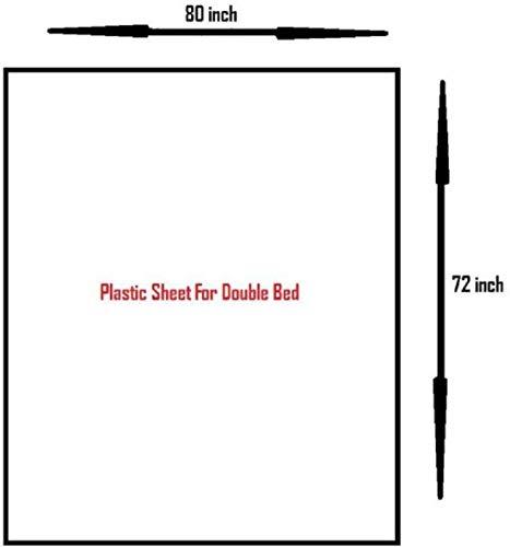 CUTEY BABY Premium Baby/Mattress Protector High Grade Plastic Sheet (6 Feet X 7 Feet) Assorted Colour