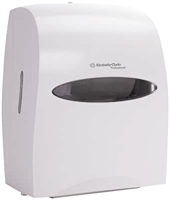 how to open kimberly clark paper towel dispenser