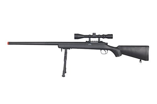 Well VSR-10 Bolt Action Airsoft Rifle w/Scope And Bipod (Black/Long) (Best Affordable Airsoft Sniper Rifle)
