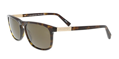 Ermenegildo Zegna EZ0045/S 52M Black/Brown Square - Zegna Women
