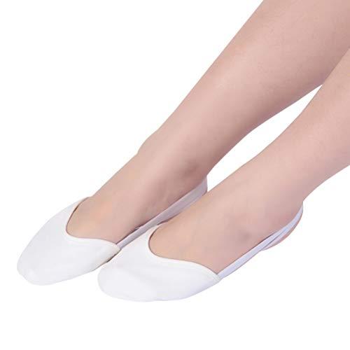 Healifty Paar Größe Gummibänder 1 mit Weiß Ballettschuhe L Tanzschuhe Ballettschläppchen OqHw6rO