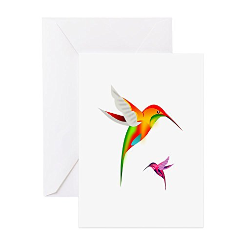 (CafePress Hummingbirds_Colibri_Transp_12B17.Png Greeting Car Greeting Card, Note Card, Birthday Card, Blank Inside Matte)